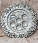 Passover Plate Judaica Antique Betzalel Seder plate