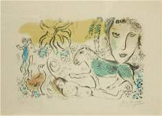 """Marc Chagall, Lithograph """"The Green Horse"""" Signed and"""