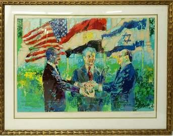 "LeRoy Neiman, Serigraph ""Egyptian-Israeli Peace Treaty"