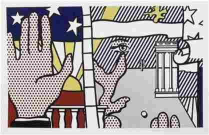 Roy Lichtenstein, Inaugural Print 1977 Serigraph Hand
