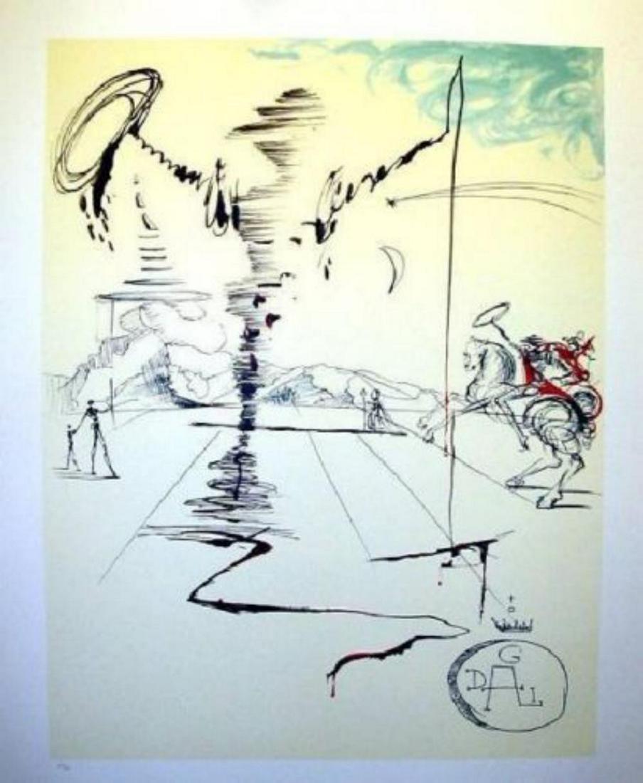 "Salvador Dali ""Le Chevalier"" Limited Edition Lithograph"