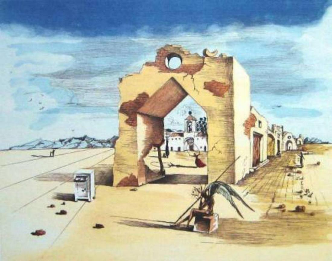 "Salvador Dali ""Paranoiac Village"" Limited Edition"