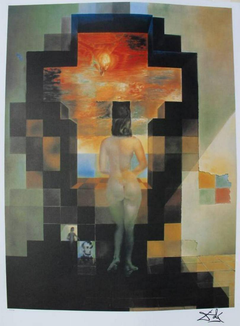 Salvador Dali Lincoln in Dalivision Lithograph LE