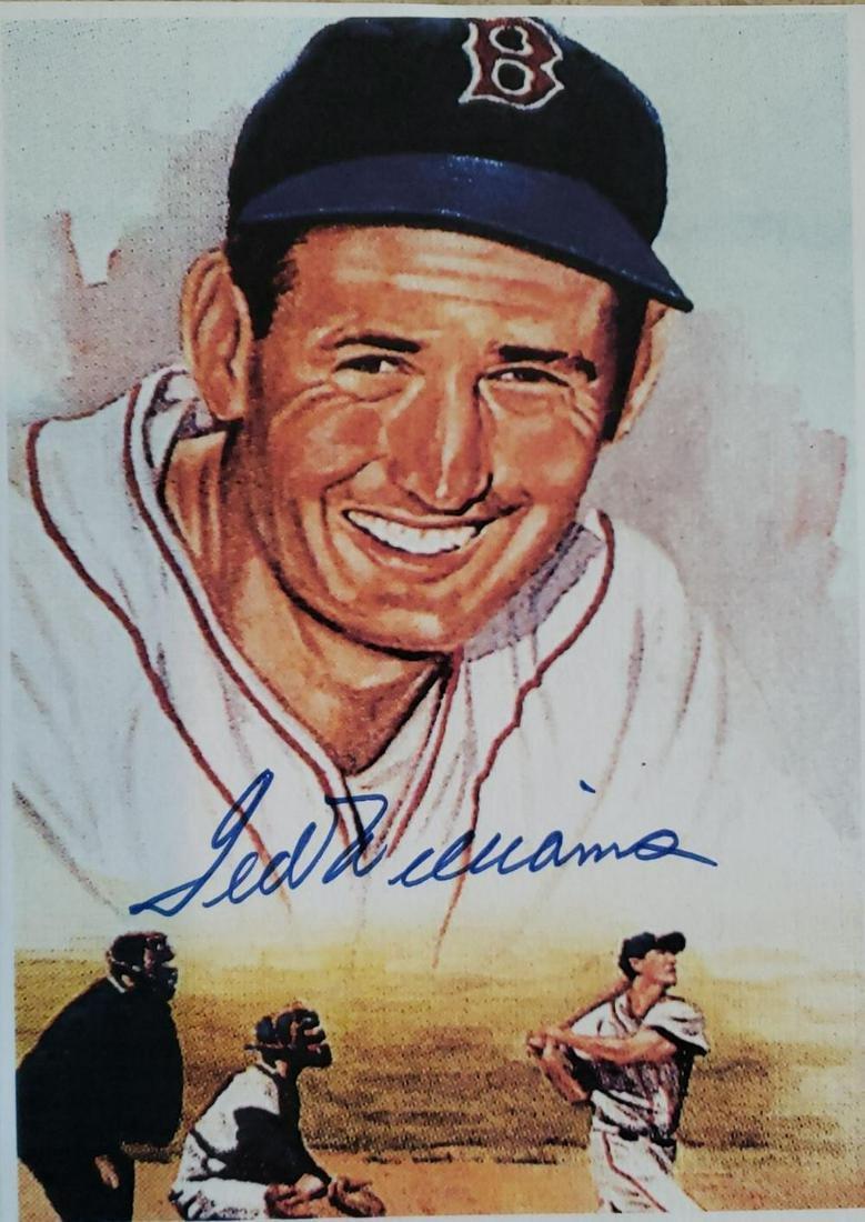 """memorabilia """" Ted Williams Autographed photo with COA"""