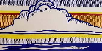ROY LICHTENSTEIN, Cloud and sea 1964 Hand signed framed