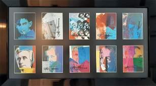 Andy Warhol Ten Portraits of Jews Hand signed portfolio