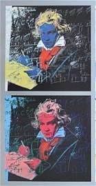 Andy Warhol, Beethoven 390, 392 Silkscreen 1987