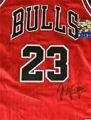 Michael Jordan Signed Chicago Bulls Basketball Jersey