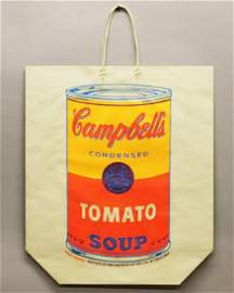 ANDY WARHOL, Campbell's Soup Can on a Shopping Bag,