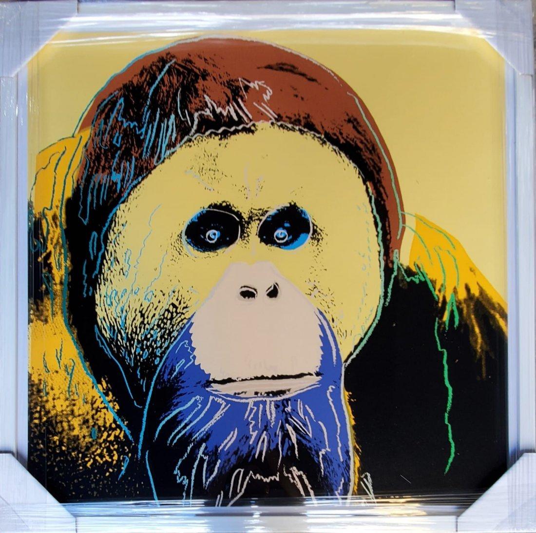 Andy Warhol, Orangutan 1983 silkscreen FRAMED