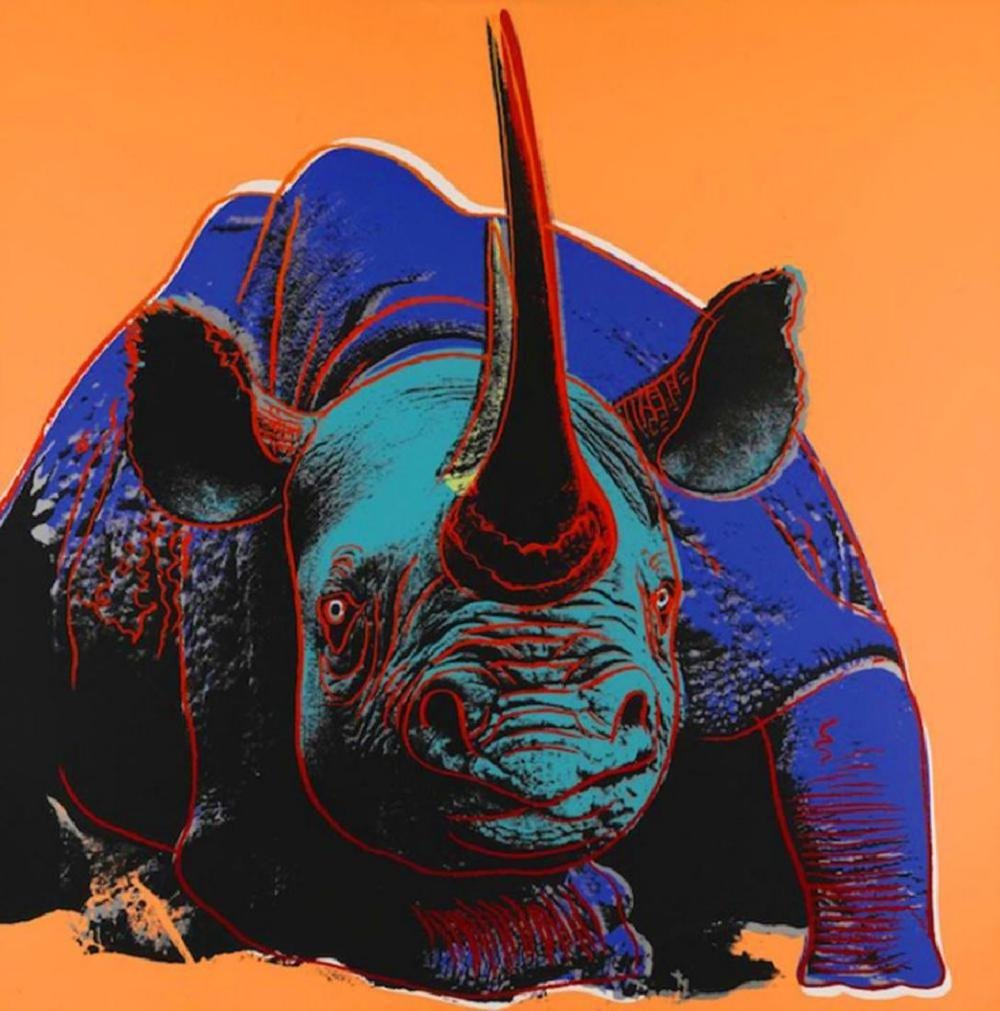 Andy Warhol, RHINO Endangered Species Silkscreen, 1983