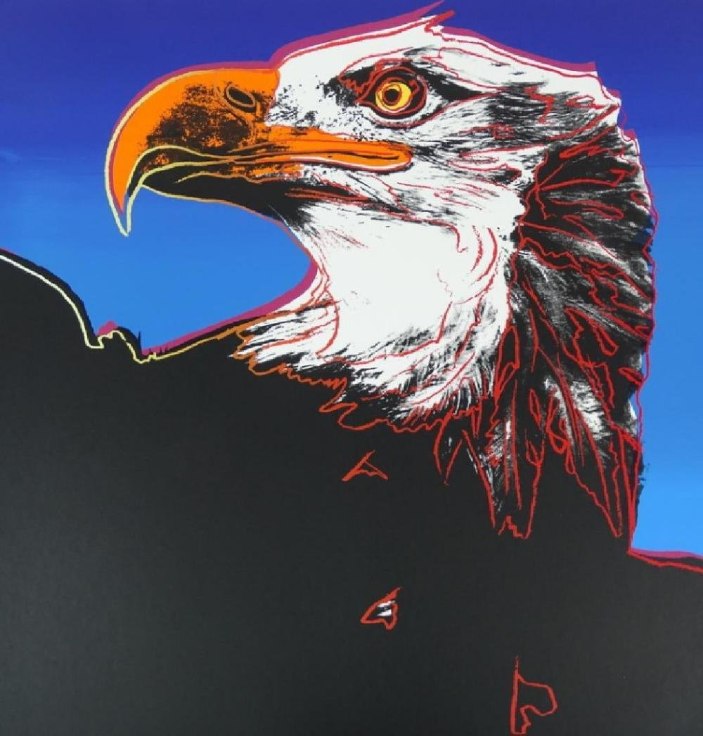 Andy Warhol , American Eagle, Screenprint 1983 FRAMED