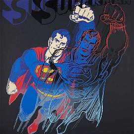 Andy Warhol Superman (Screenprint) 1981 FRAMED