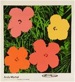 Andy Warhol Hand Signed Flowers 1964 poster