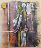 Rufino Tamayo 18991991 Mexican Mix Media On Paper