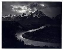1949 Original ANSEL ADAMS Grand Tetons Snake River