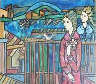 Jose Maria Mijares Oil on Canvas C1950 COAEstate