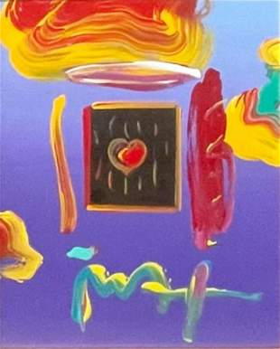 """Peter Max, """"Heart Suite III"""" Mixed media on paper,"""