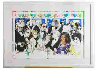 "LeRoy Neiman, Serigraph ""Celebrity Night at Spago,"