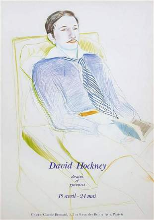 David Hockney Vogue Galerie Claude Bernard poster 1985