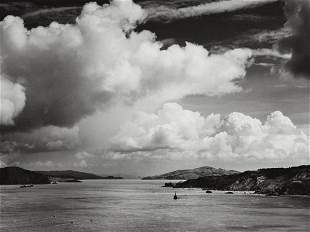 ANSEL ADAMS San Francisco Bay Before Golden Gate Bridge