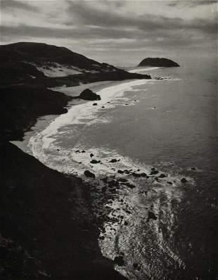 ANSEL ADAMS Point Sur Pacific Ocean Beach, 1940s