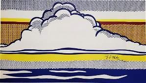 ROY LICHTENSTEIN Cloud and Sea 1964 Hand Signed