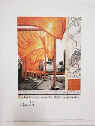 Christo The Gates XX, 2003, Lithograph, Hand signed