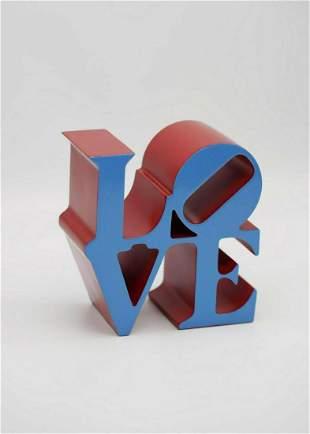 ROBERT INDIANA - Love Red Blue, include original COA