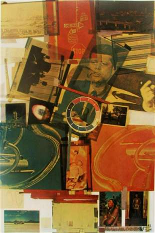 """Robert Rauschenberg """"CORE"""" lithograph signed & numbered"""