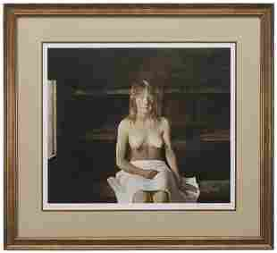 "Andrew Wyeth - ""The Sauna"" Signed Collotype (1978,"