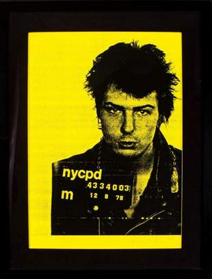 Russell Young, Sid Vicious 2000, Signed silkscreen