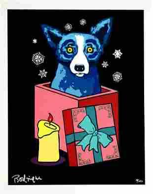 George Rodrigue - Midnight Surprise (Blue Dog)