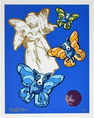 George Rodrigue - Angel Baby, Screen print Signed &