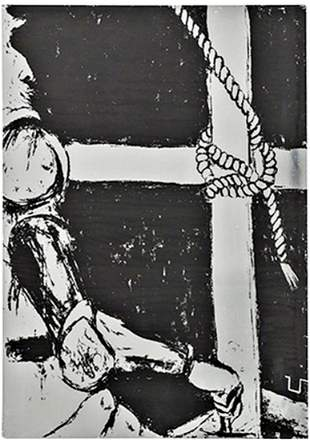 "GEORGE SEGAL - ""Don Quixote, 1968"" Screen print,"
