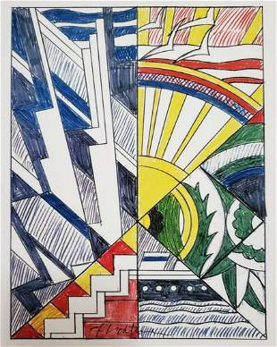 Roy Lichtenstein, Study for Town and Country 1968 H/S