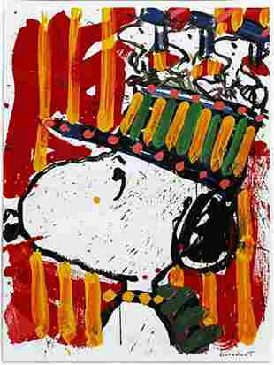 """Tom Everhart, """"WHY I DONT WEAR HATS"""" Lithograph"""