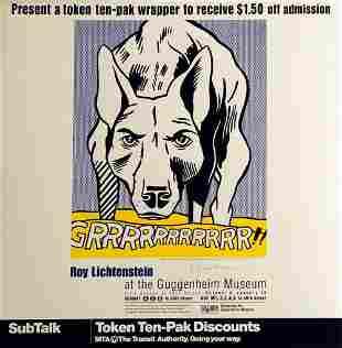 ROY LICHTENSTEIN, GRRRRRR 1993, Hand signed
