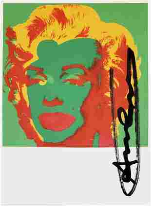 Andy Warhol, Marilyn Monroe Invitation 1967 hand signed