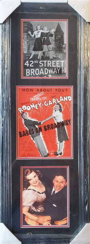 Micky Rooney, Aoutgraphed photo, Framed