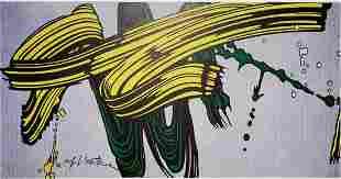 Roy Lichtenstein, Yellow and Green Brushstrokes 1966