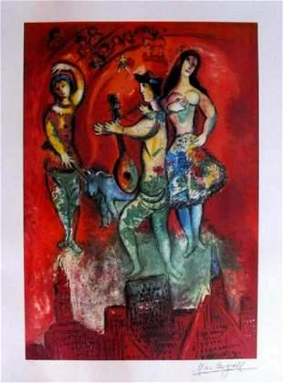 "Marc Chagall ""Carmen"" Ltd. Ed. Litho. Facsimile Sig."