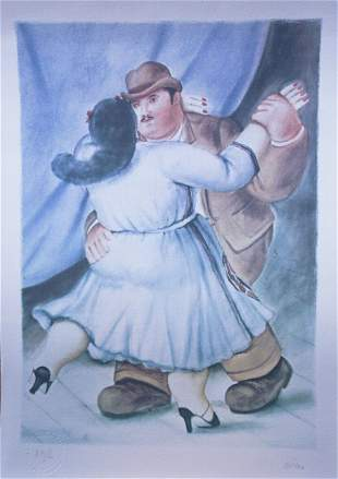 Fernando Botero, Les Danseurs 1985, Lithograph Signed/#