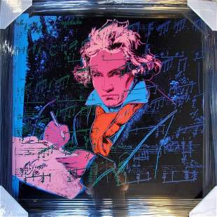 "ANDY Warhol, ""Beethoven 392"" silkscreen ,1987 FRAMED"
