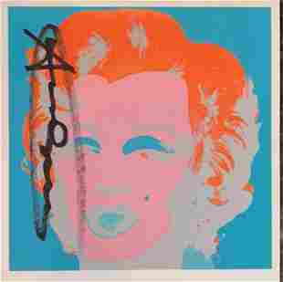 Andy Warhol, Marilyn Monroe 1967 hand signed