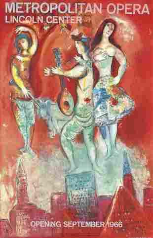 Marc Chagall - Carmen - 1966 original lithograph