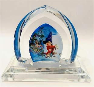 "Disney Fine Art Glass, ""Fantasia"" hand painted art"