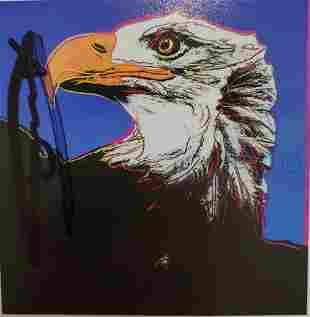 Andy Warhol Bald Eagle Hand Signed Endangered Species