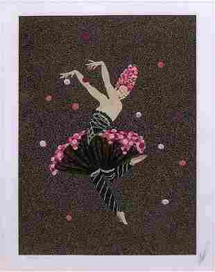 Erte, Rose Dancer, Serigraph, Signed & numbered