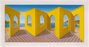 PATRICK HUGHES, Opening - 1998, 3D lithograph,
